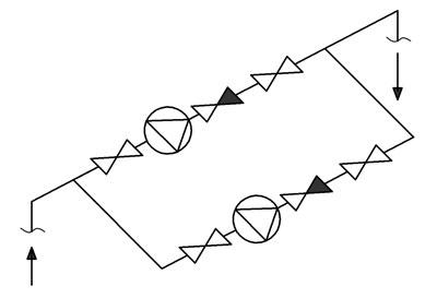 Гидравлическая схема насосной станции